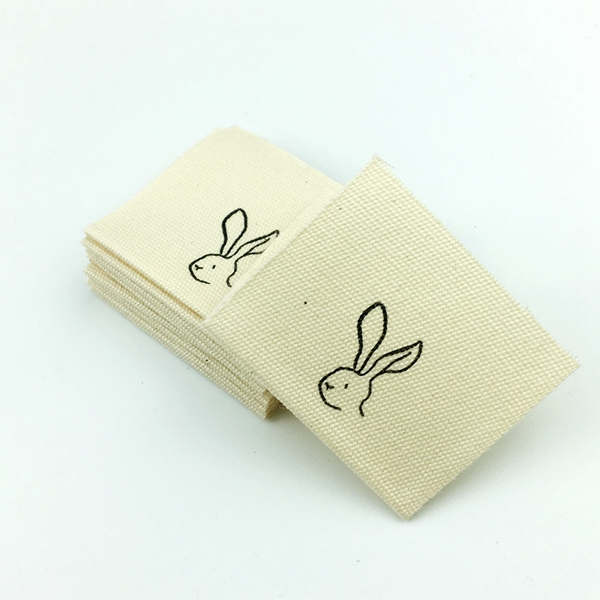 custom cotton labels printed logo
