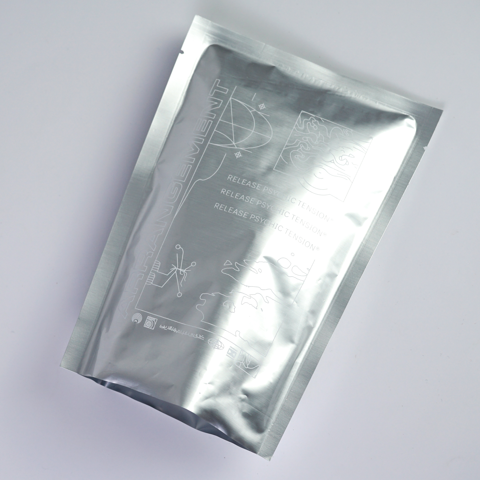 Custom vacuum aluminum foil 3 side seal flat triple laminated aluminum foil bag Snack Packing Bag