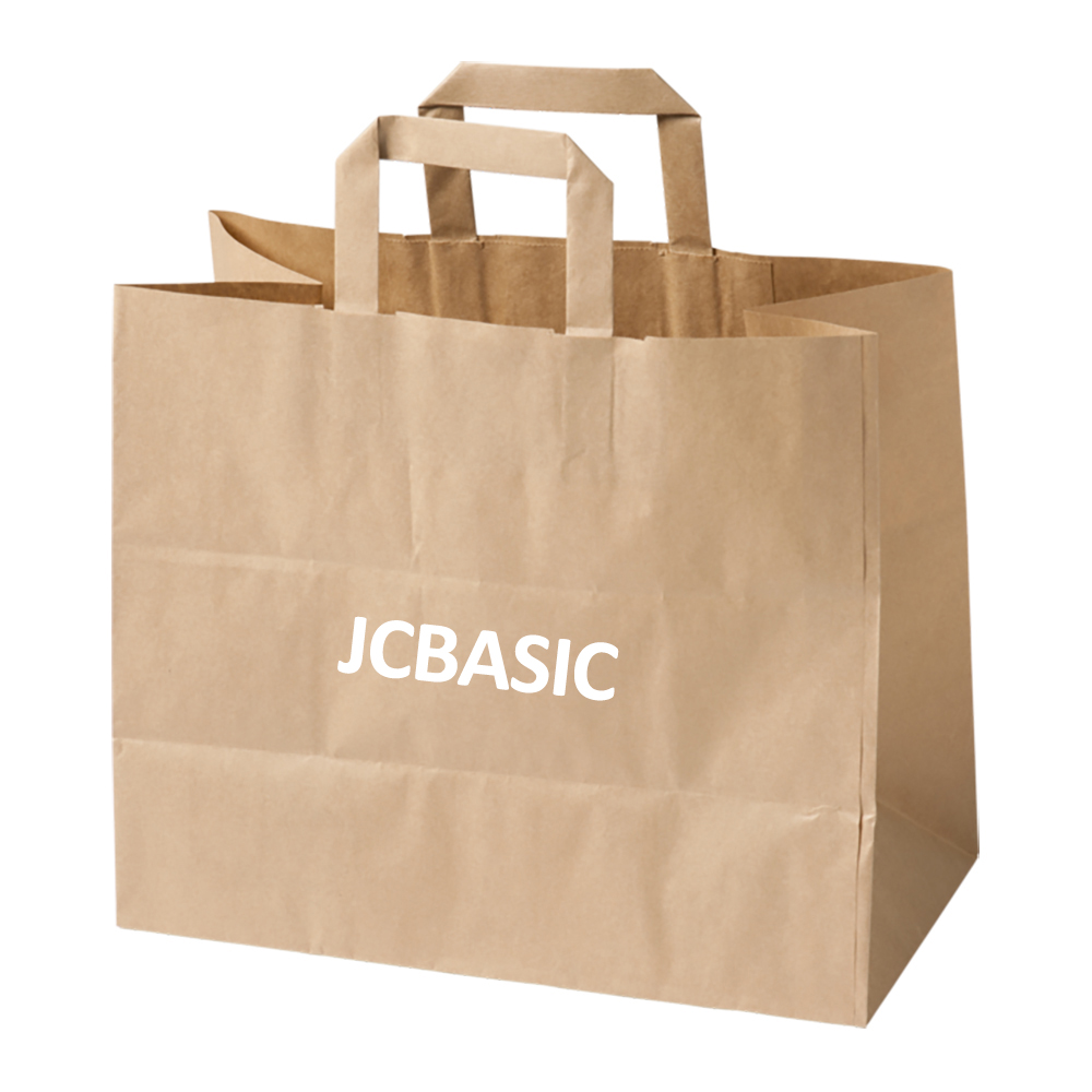 High quality widely use custom logo printed brown kraft carry paper bags