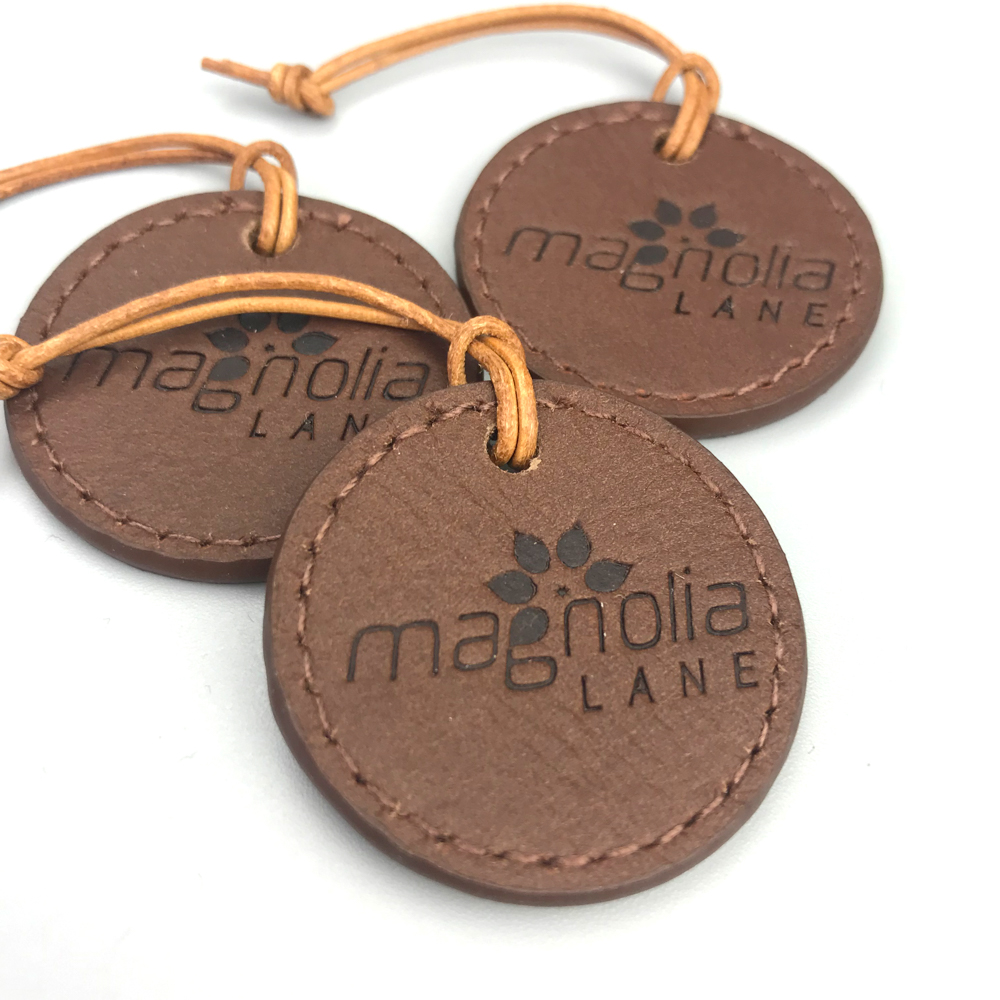 Custom Wholesale Embossed Full Leather Hang Tag
