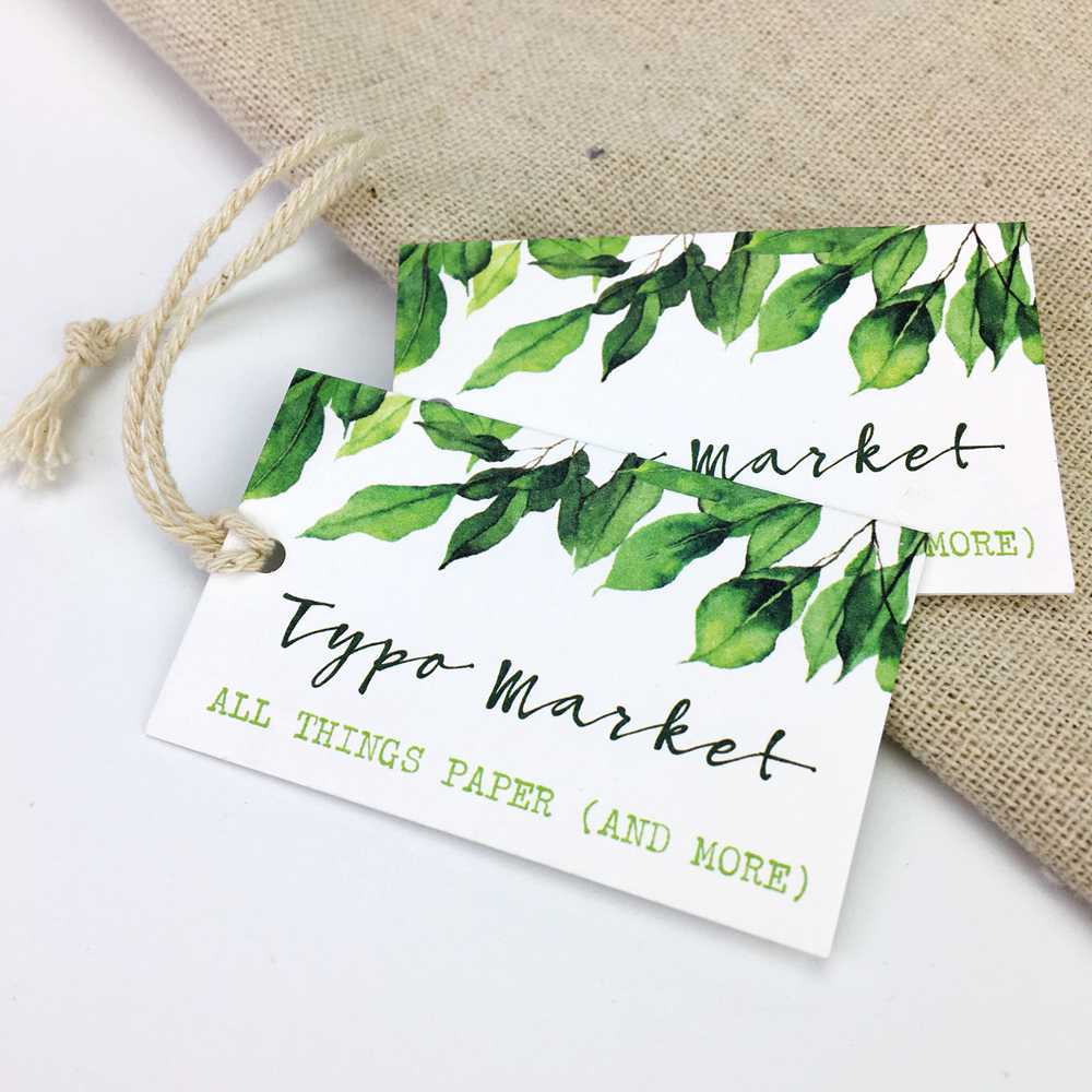 Custom white matte cardstock hang tags