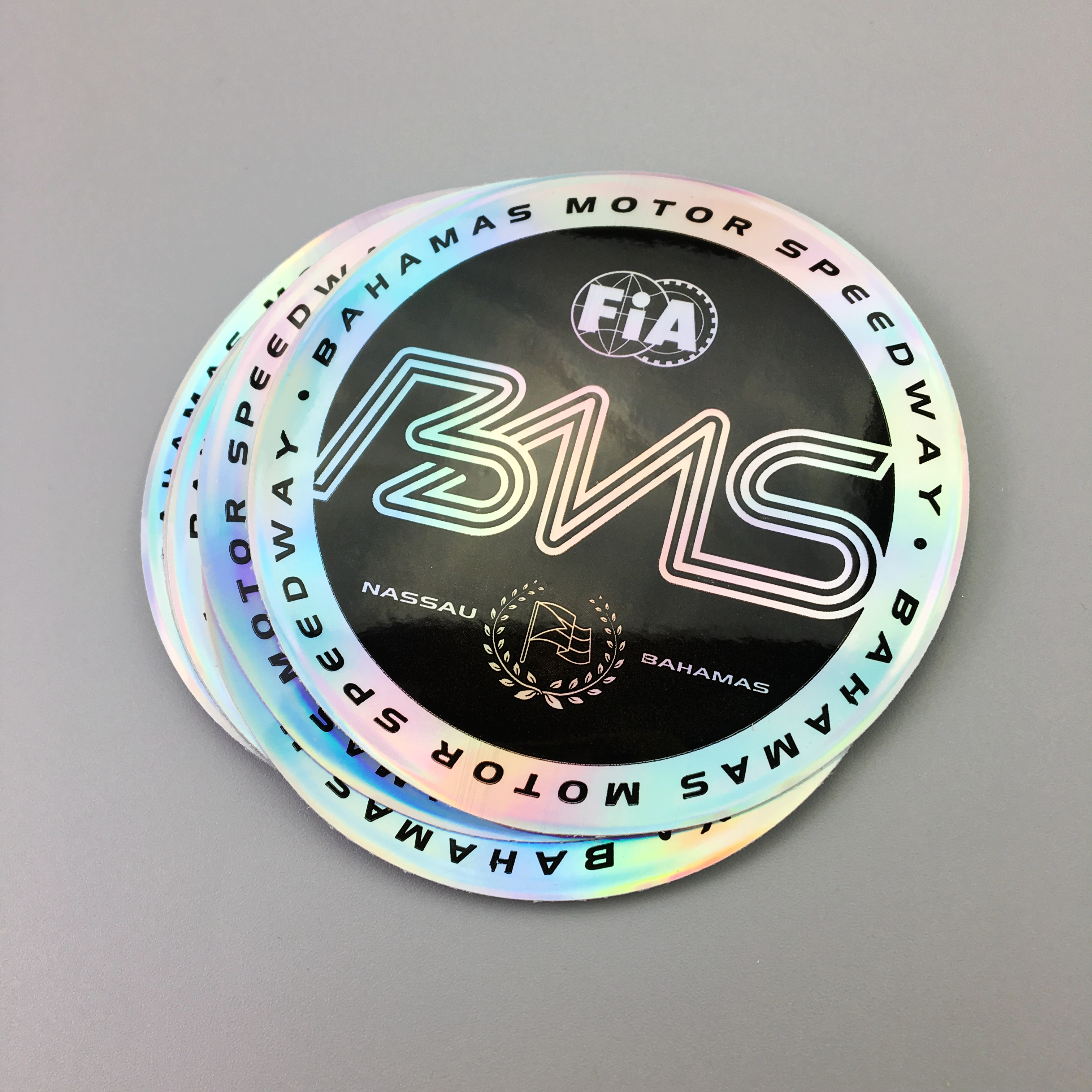 Custom personalised shaped printed die cut hologram seal stickers printing