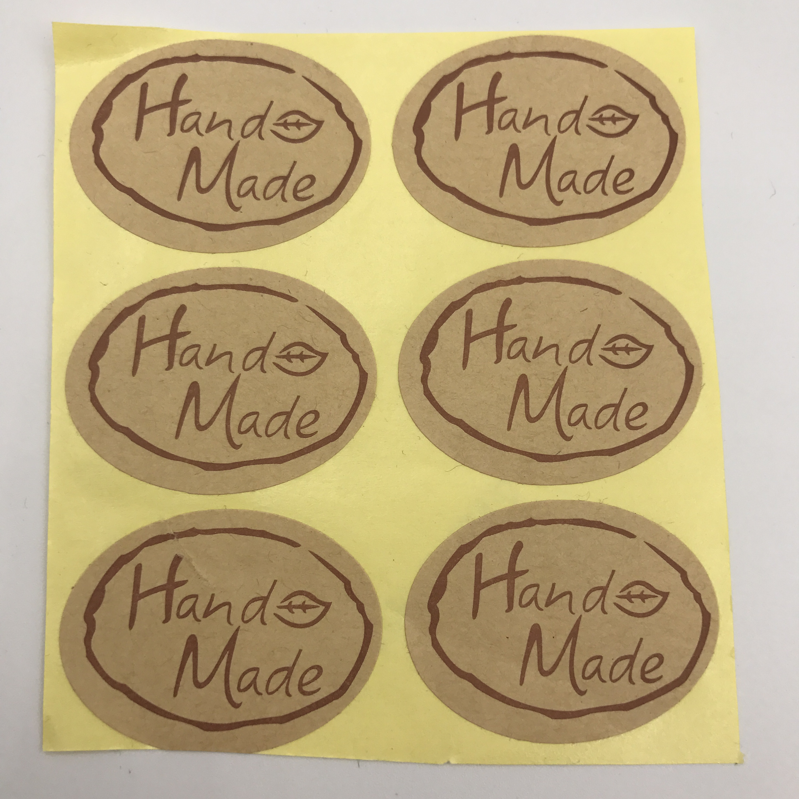 personalized Custom cheap printable die cut kraft paper stickers