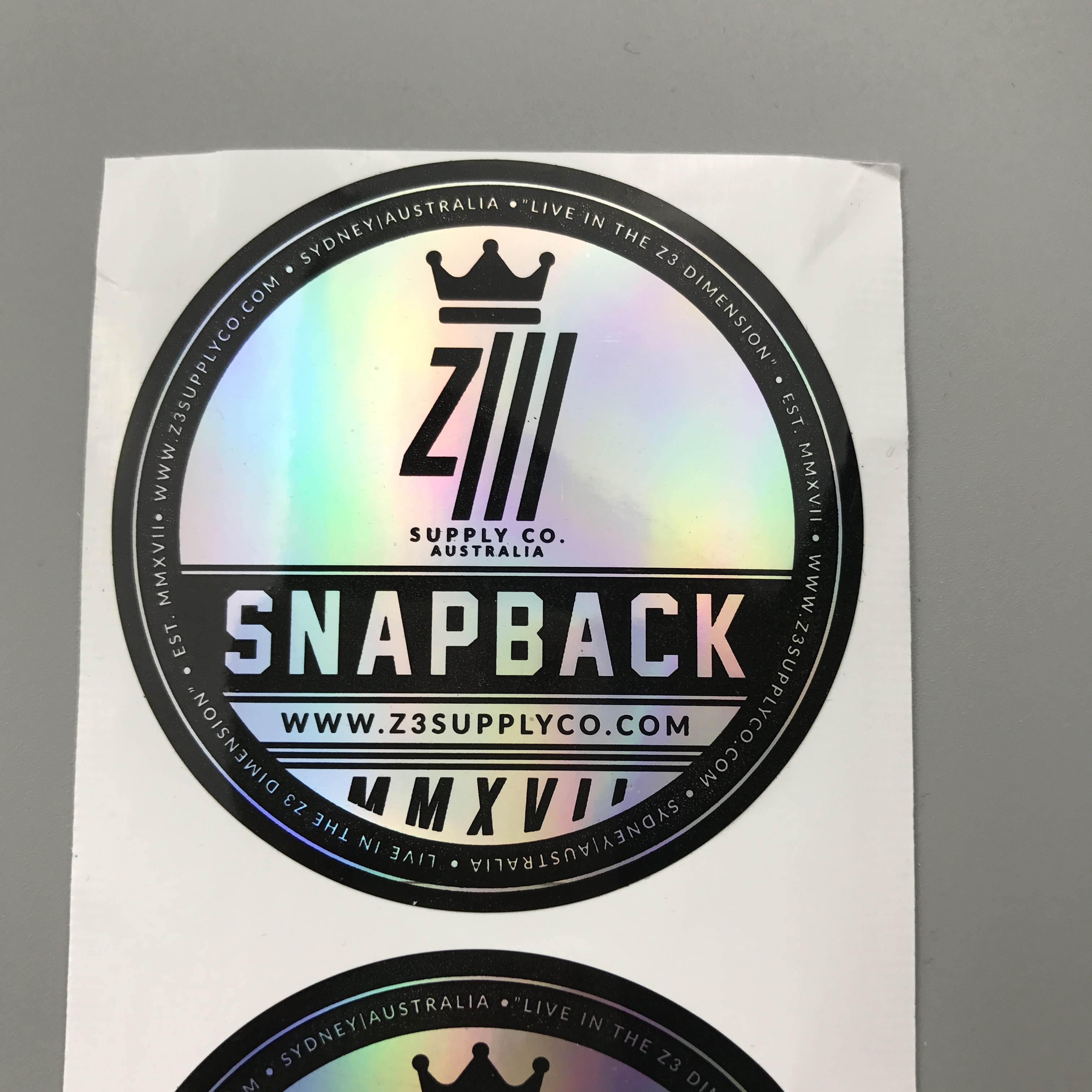 Custom clear cheap hologram sticker with own brand logo printing