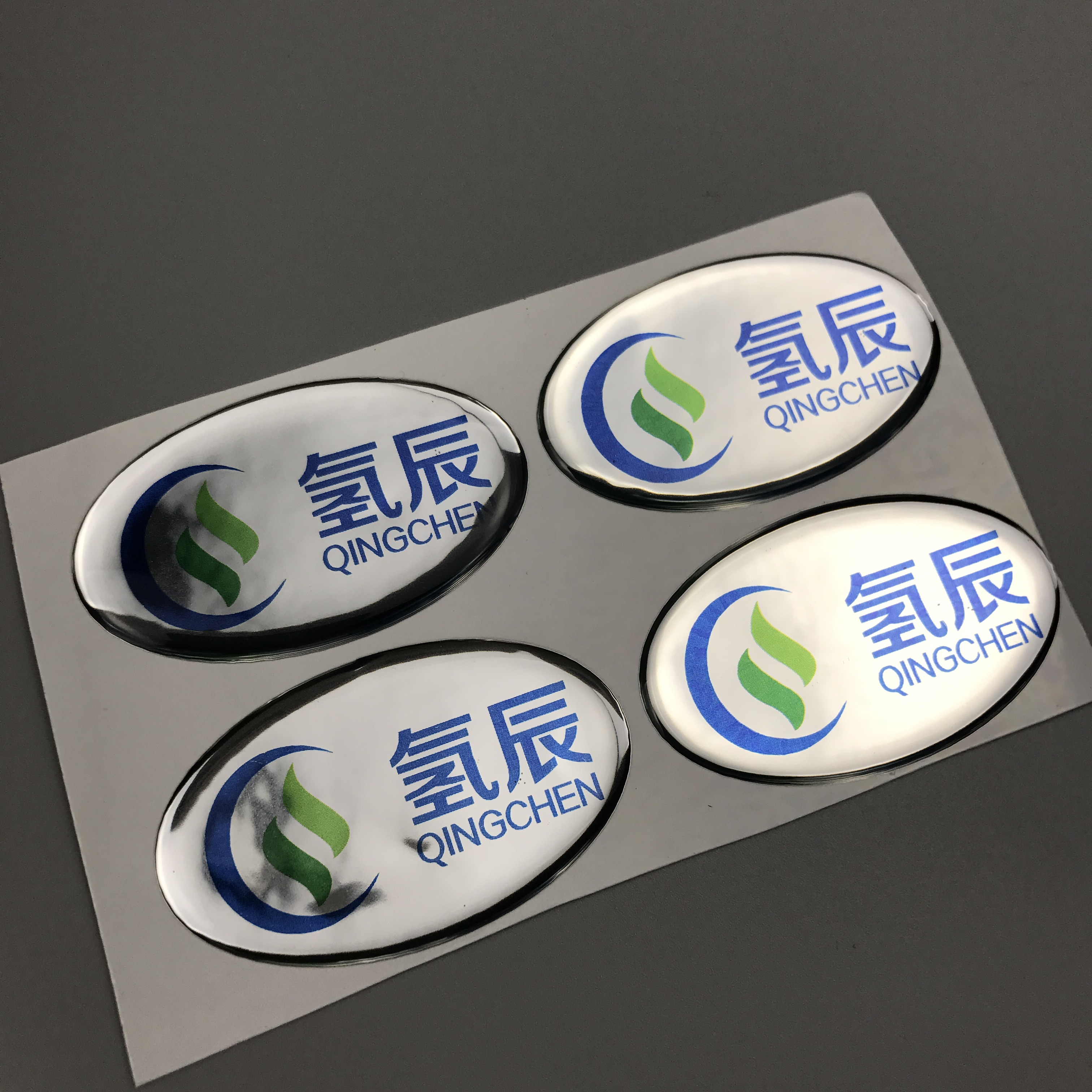 Custom Logo Adhesive epoxy sticker