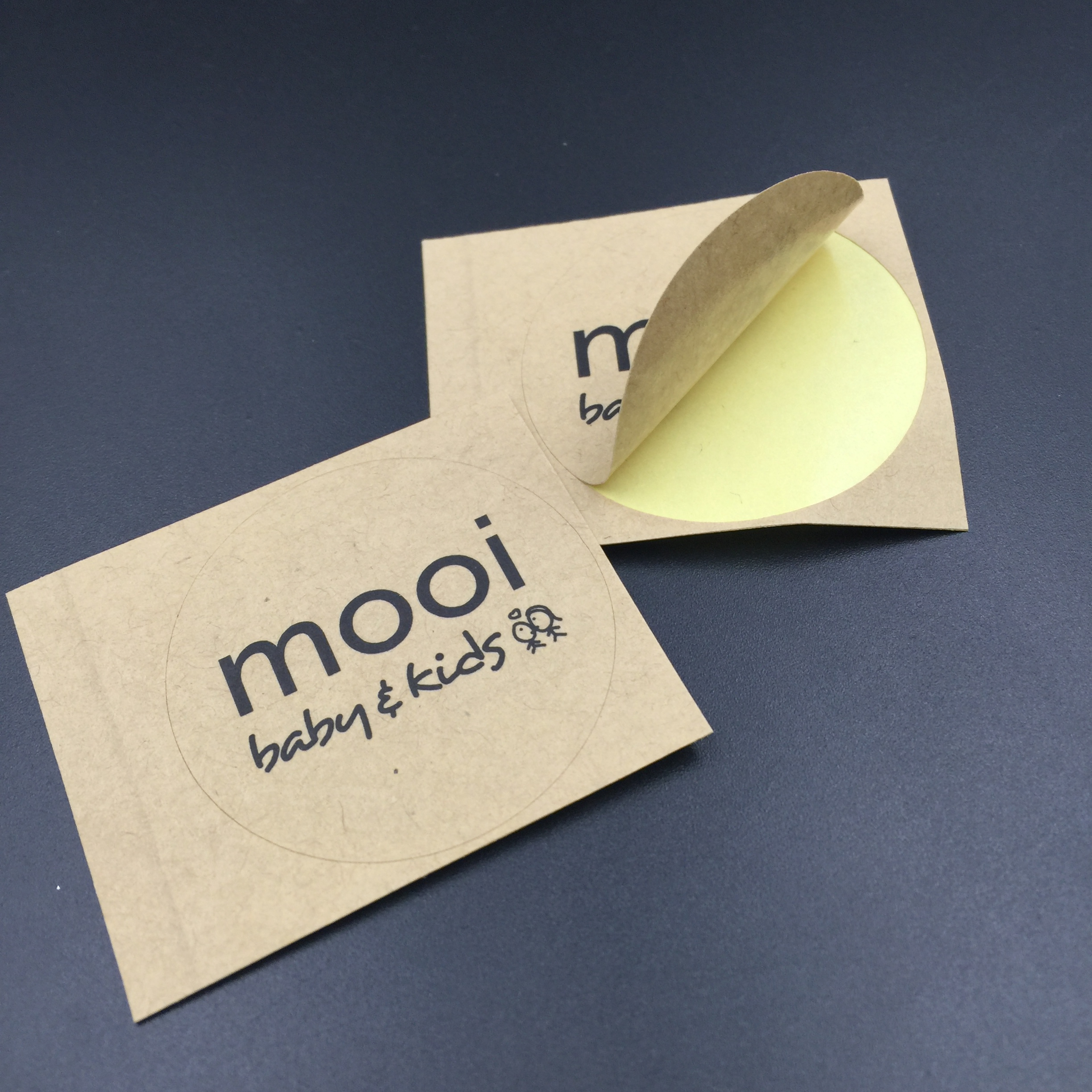 Customized Adhesive Kraft Paper Printing  Logo Sticker