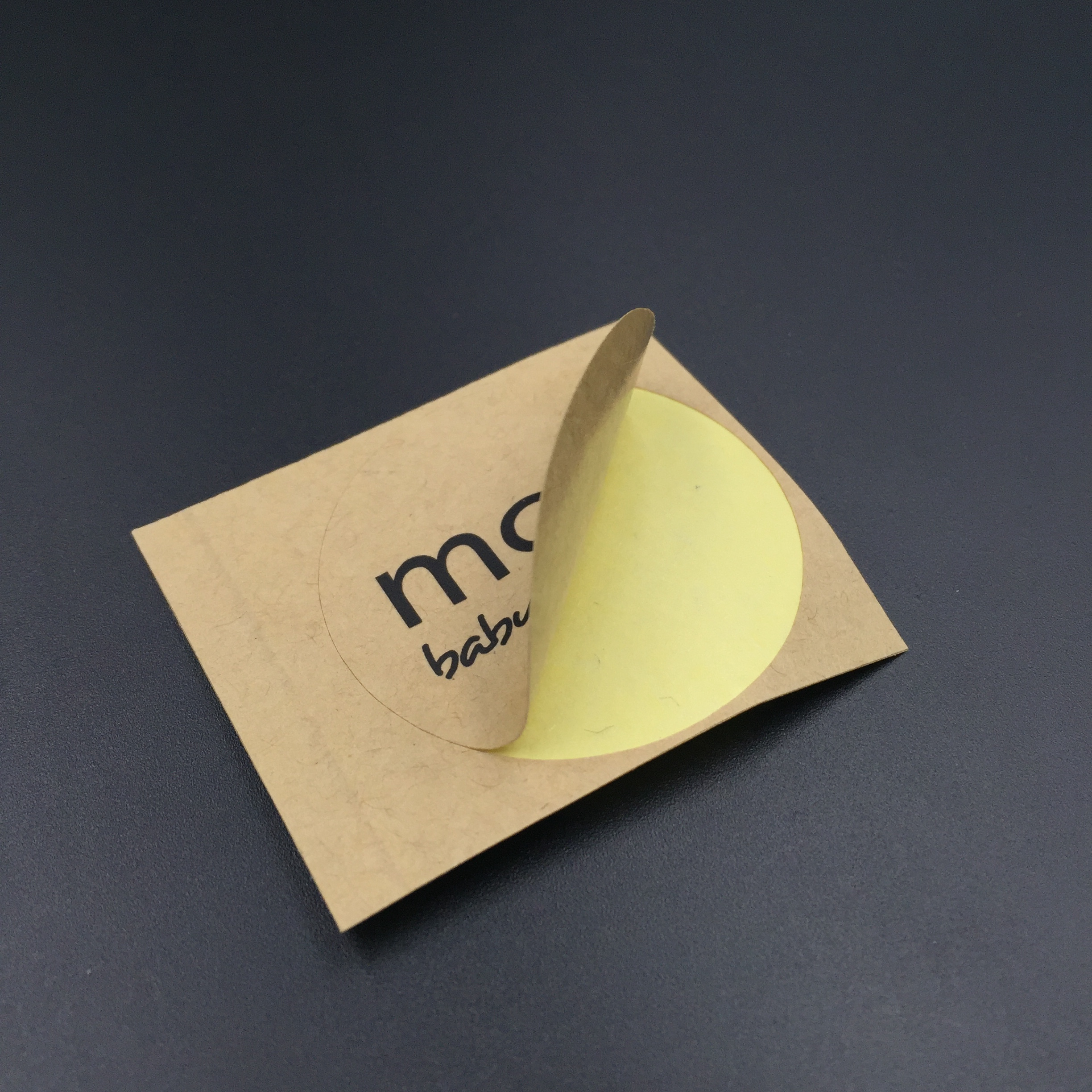 Kraft paper material sticker labels printing for custom sticker