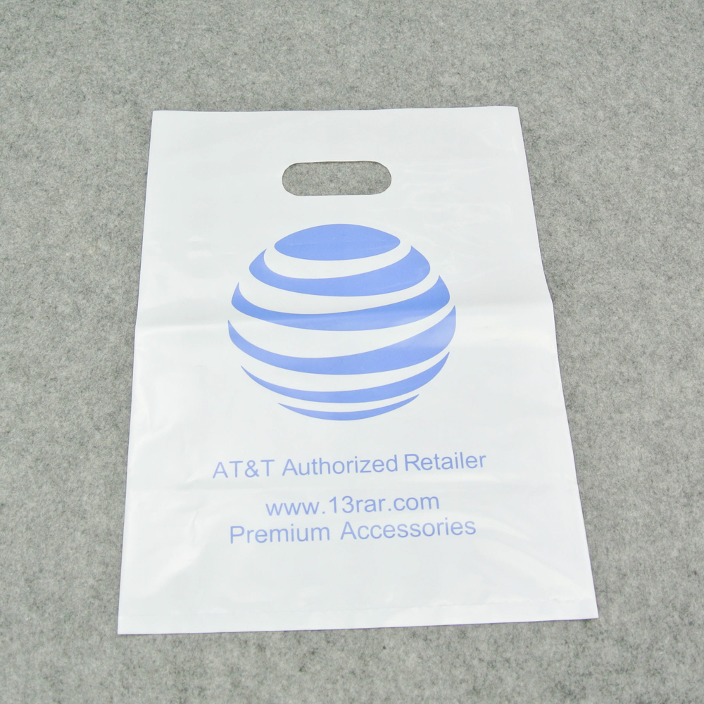 Shanghai personalized plastic die cut bags with custom logo