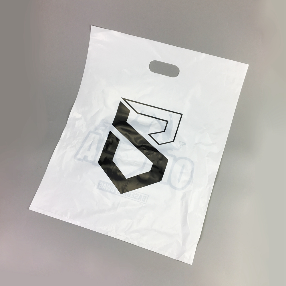 Custom printed plastic shopping bag shopping die cut bag plastic packaging bag with own logo