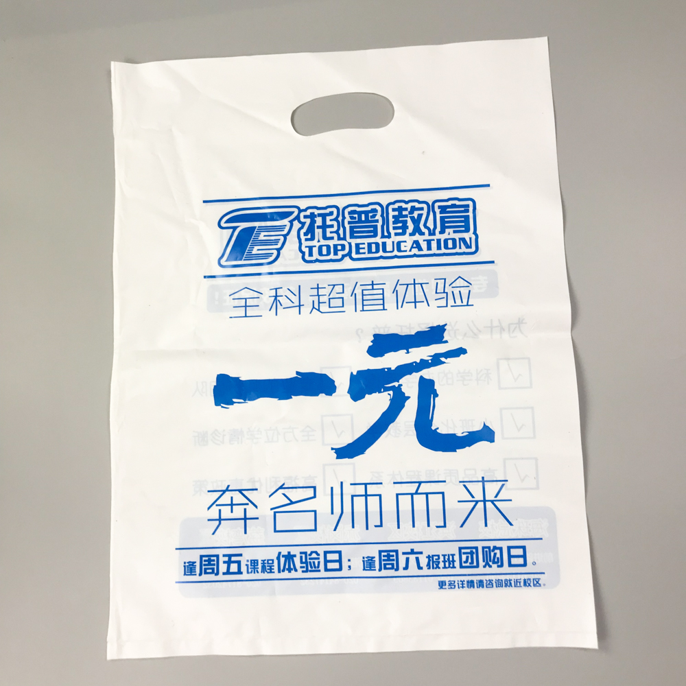 Customized Plastic Carrier bag/Shopping Plastic Bag/Packaging Plastic Die Cut Bag
