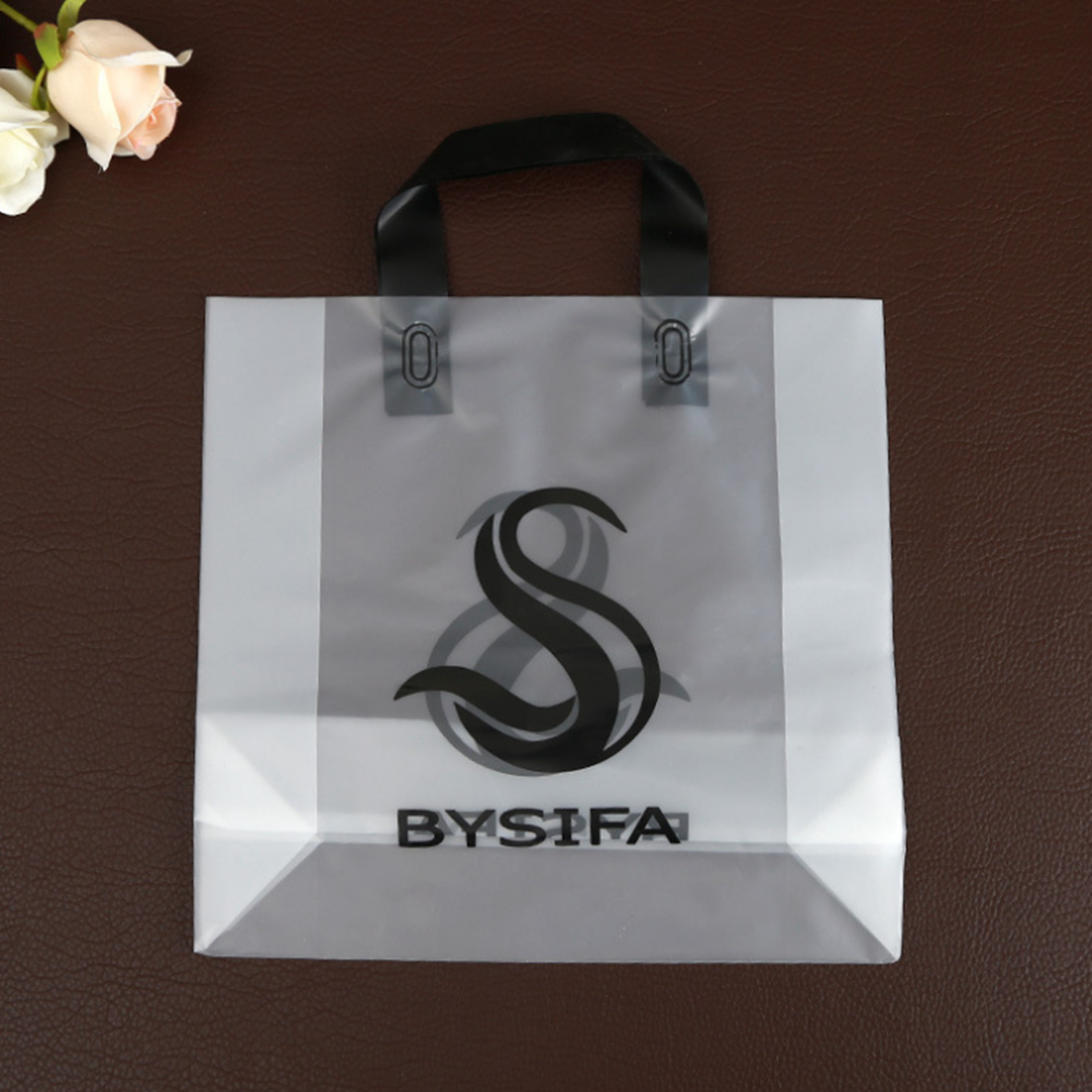 LDPE Plastic Type and Heat Seal Sealing  Handle custom shopping plastic bag