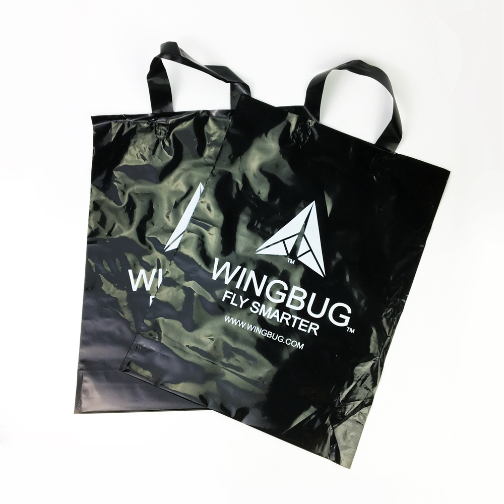 Custom loop handle poly bag carrying handle plastic bag