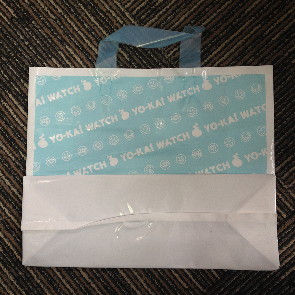 Handle Digital Printing With Logos Gift Poly Perforated Carrying Plastic Shopping Bags