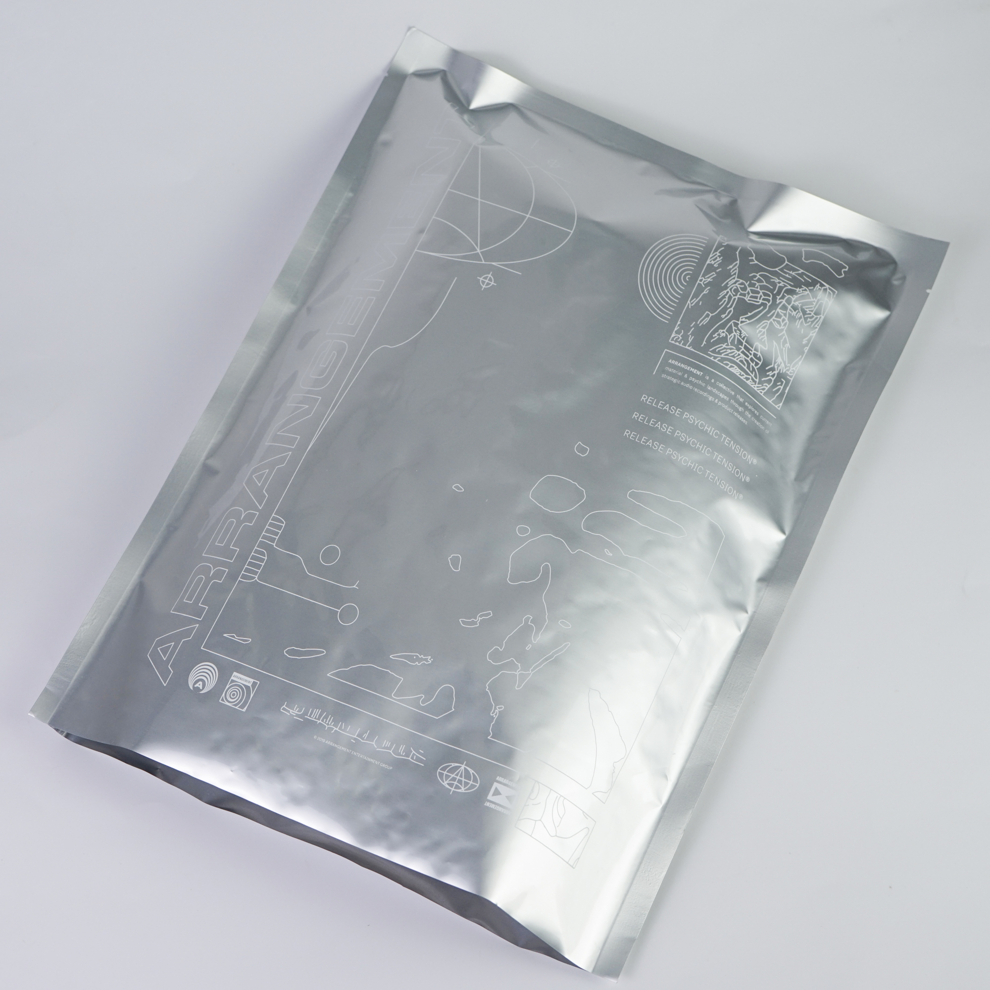 Custom aluminum foil packaging bags black aluminum foil/aluminum heat seal bags