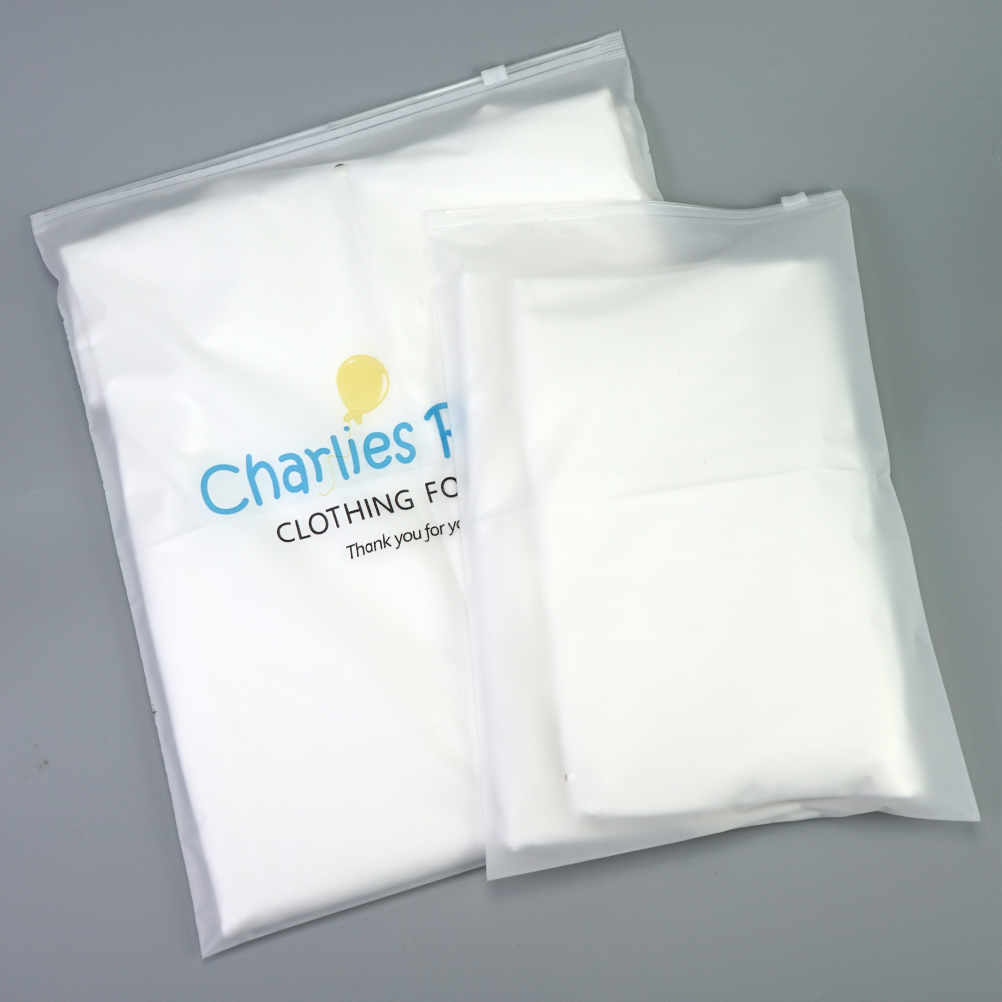 Custom logo printed plastic zipper top sealing zip lock bag