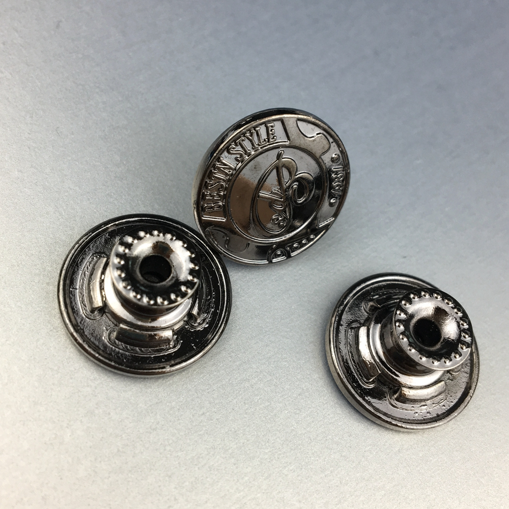 Jeans button jacket metal buttons