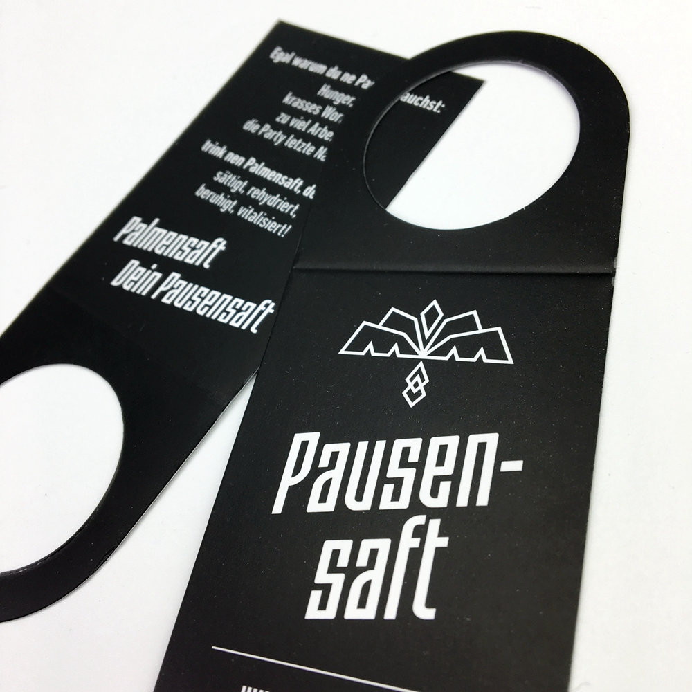 Custom die cut hang tag