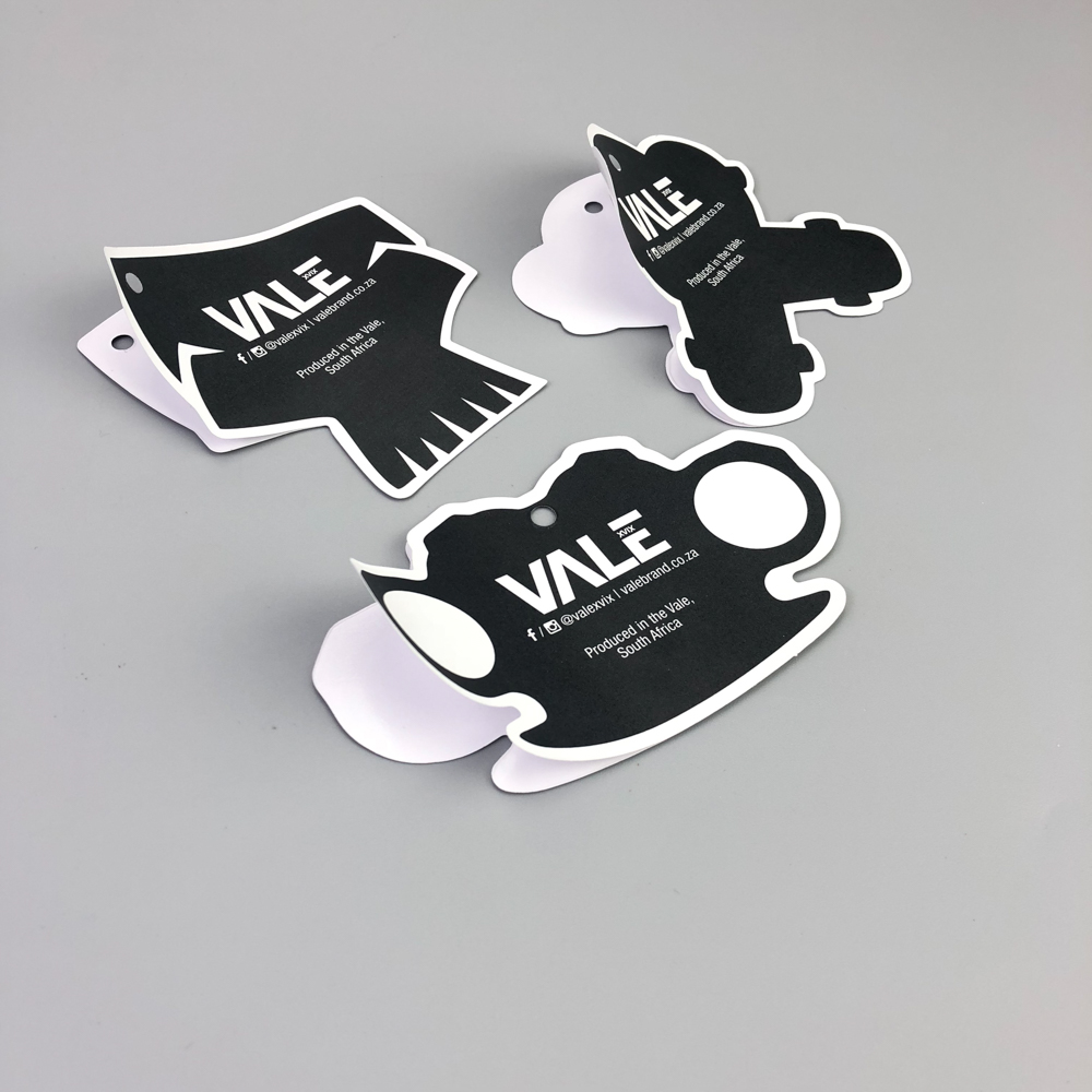 Custom sticker hang tag