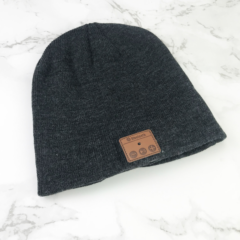Custom logo blue-tooth wool knitted beanie hat