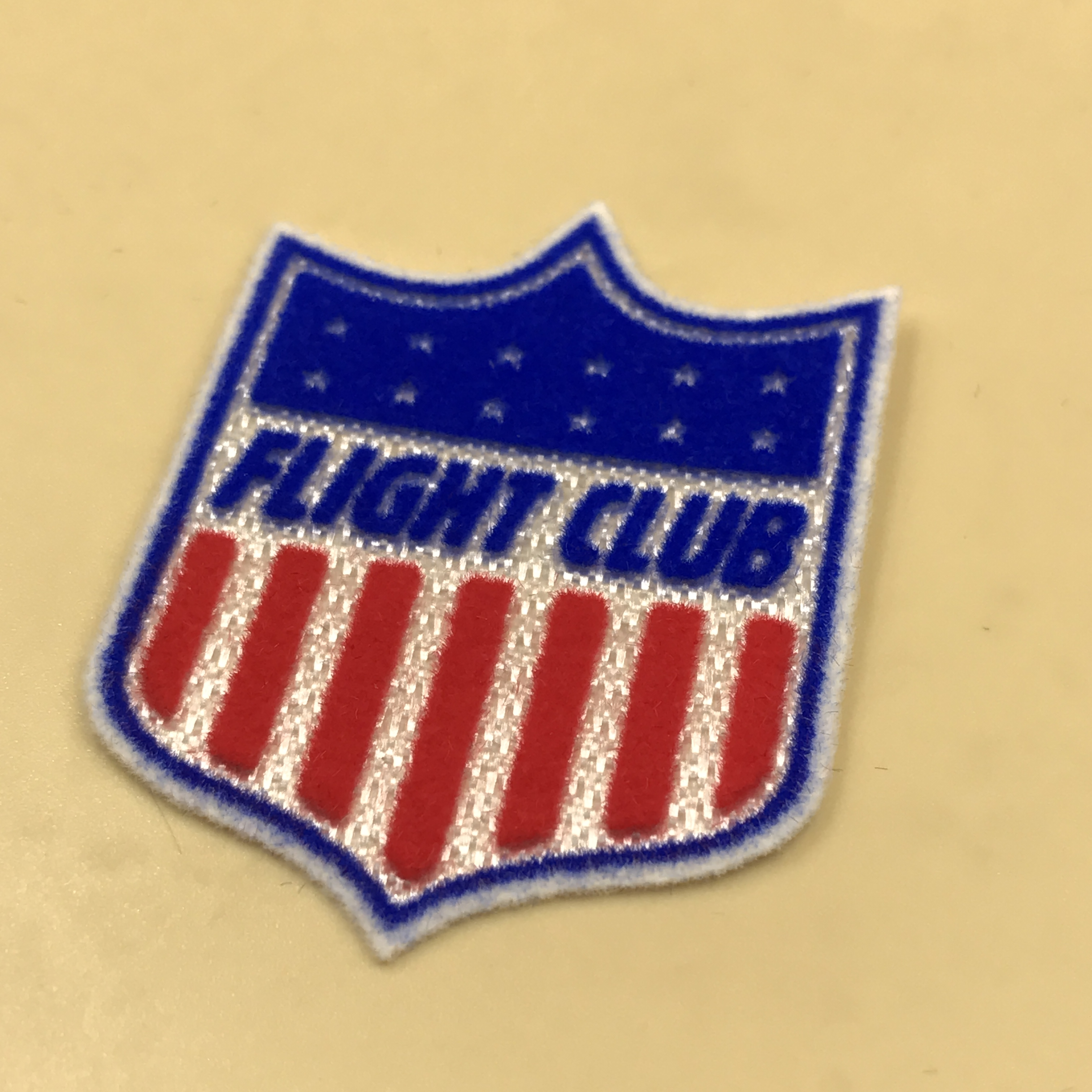 New design club heat transfer patch for sportswear 3d flock soccer badge