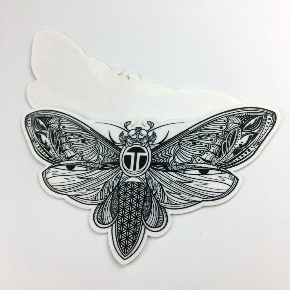 Custom iron on animal screen print patches for children jackets