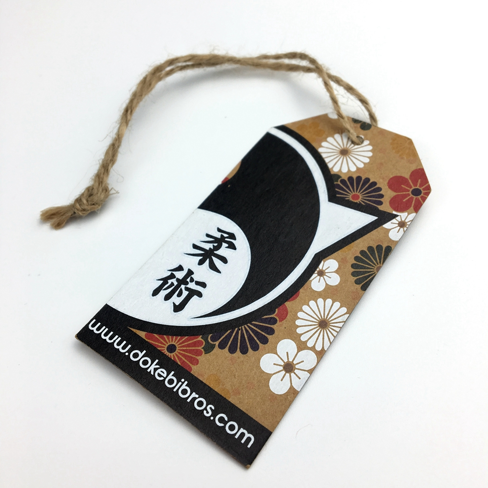 High quality Custom Brand Die Cut Unique Shape Emboss Clothing Hang Tags
