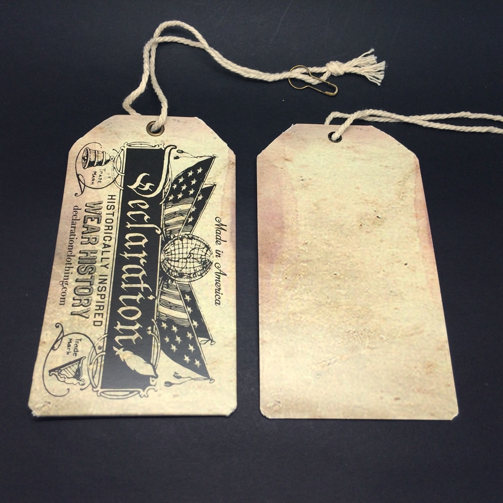 Wholesale high quality distressed hang tag Clothing Hang Tag