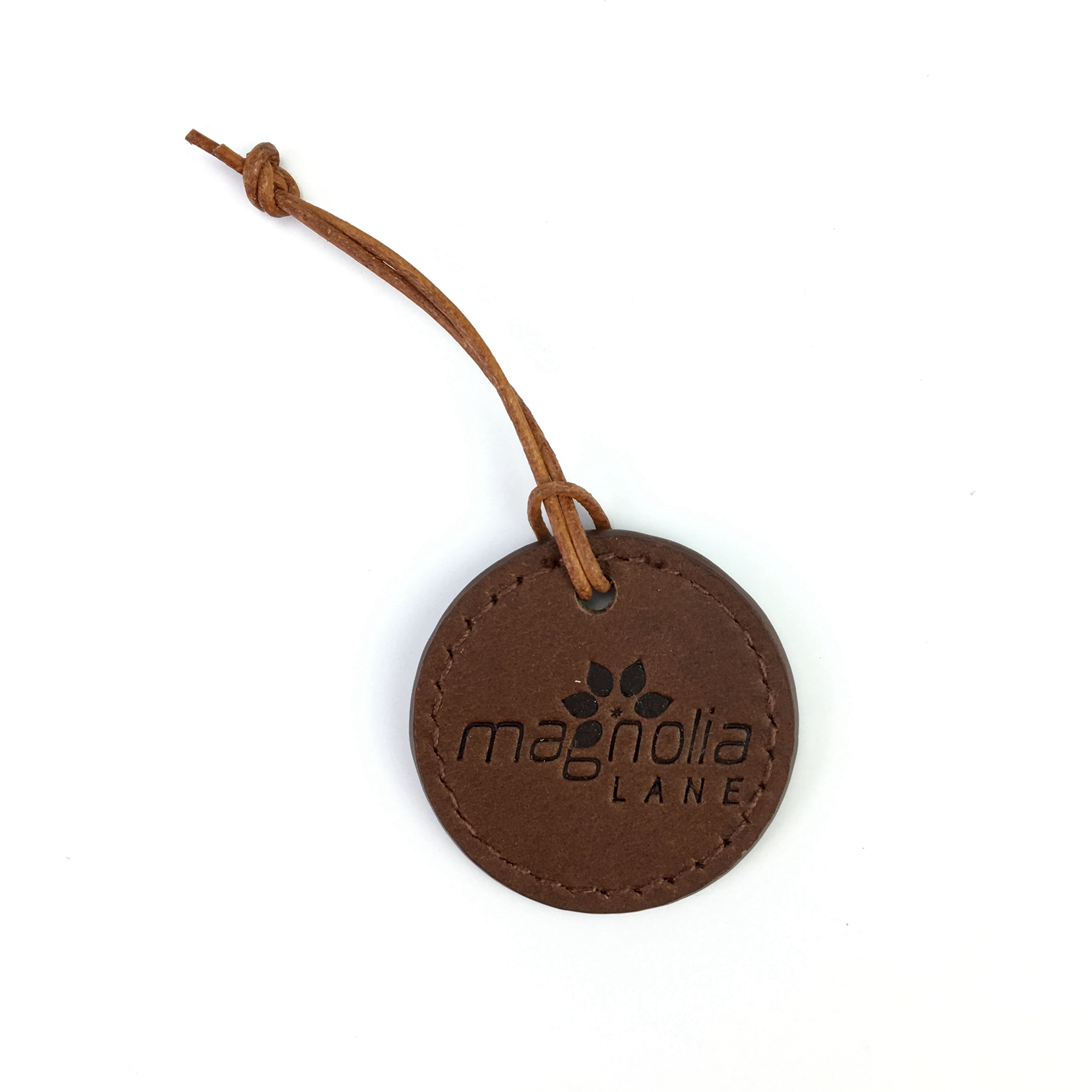 Customize embossed leather hang tag for clothing