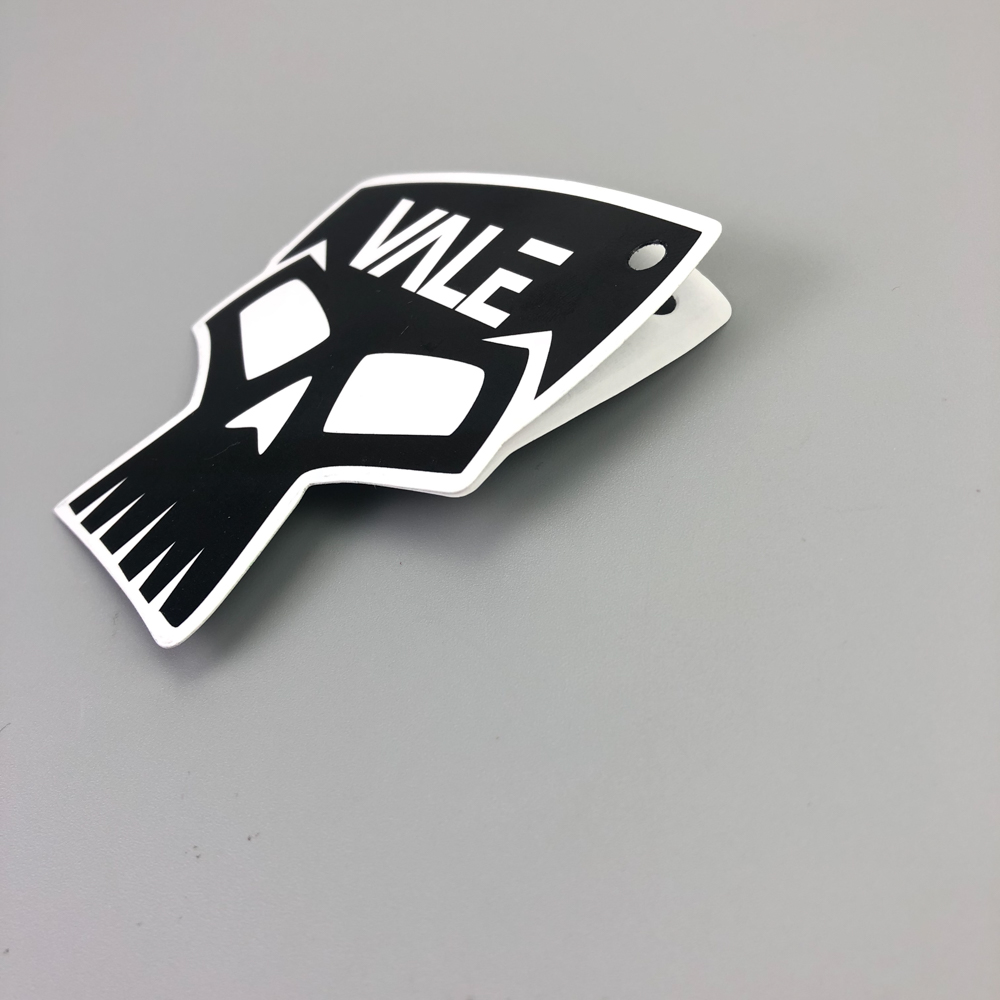 Sinicline customized printing die cut plastic sticker hang tag