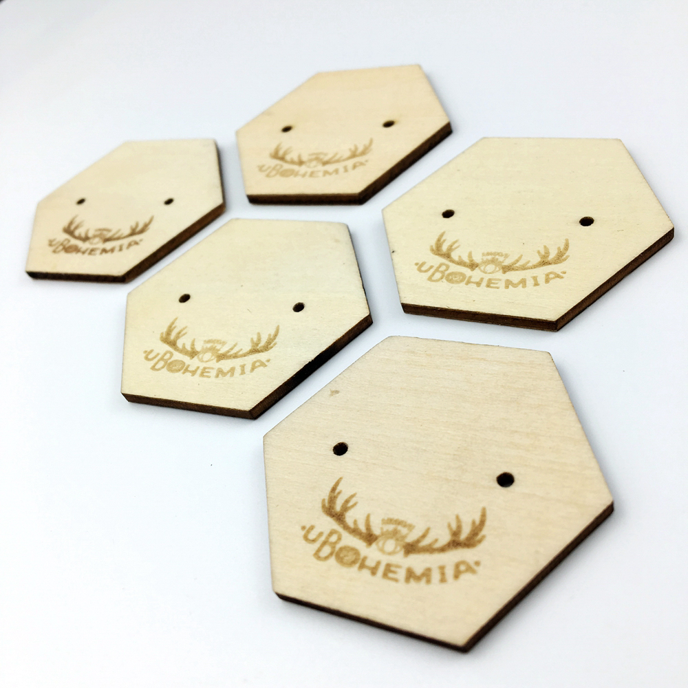 Wooden Hang Tag Wood Key Tags With Engraved Logo