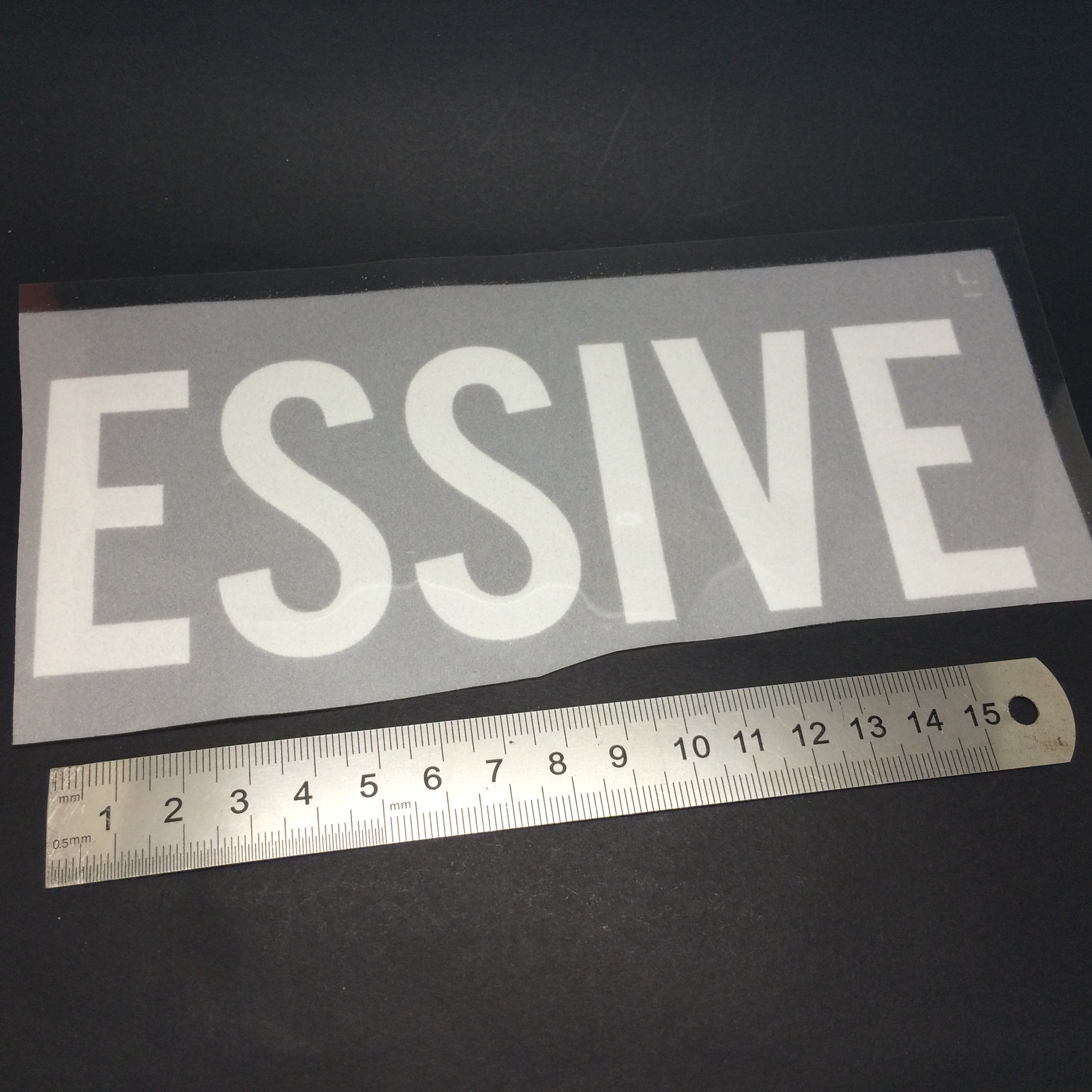 T-shirt thick silicone heat transfer printing sticker