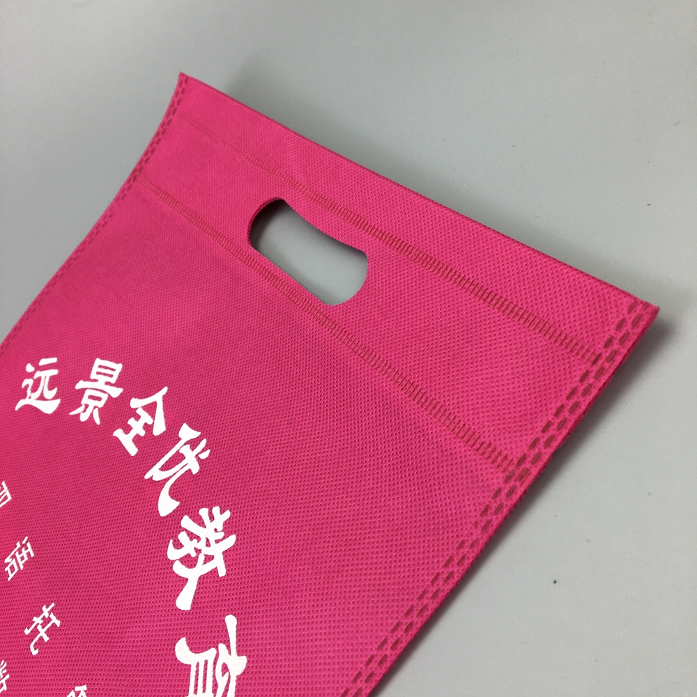 Customized logo high quality Non-woven die cut shopping bag with china factory