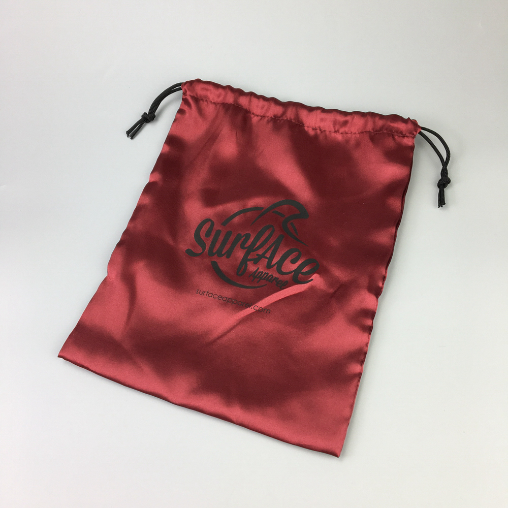Custom cheap pouch satin drawstring bag with china factory