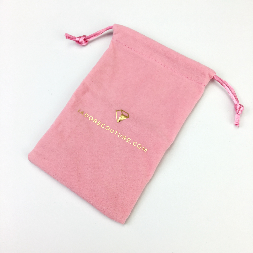 Wholesale custom printed logo velvet gift jewelry shoe dust drawstring pouch bag