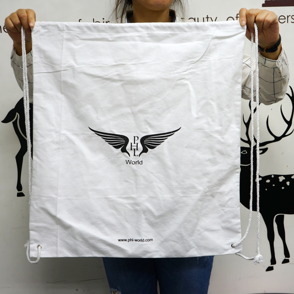 High Quality Promotional Cotton Bag Printed Custom Design Drawstring Bags