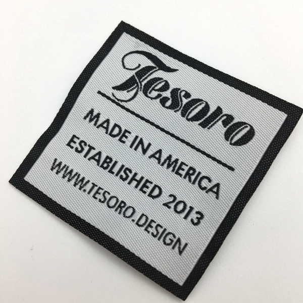 Wholesale high quality cheap garment labels woven garment tag clothing labels sew on custom