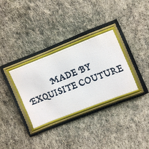 Custom high quality woven stitched fabric labels sewed for handmade items