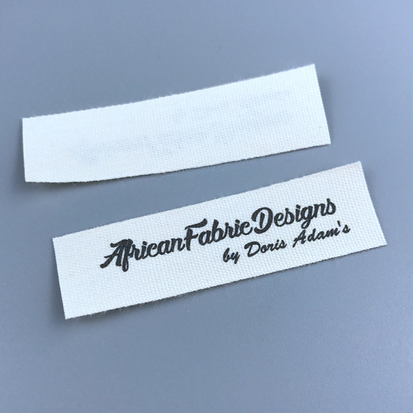 Custom printing cotton care labels