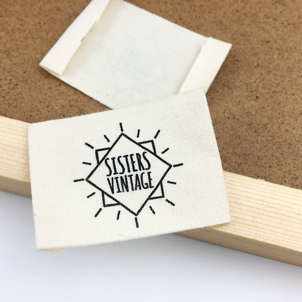 Factory Haiying woven or print organic cotton clothing neck labels