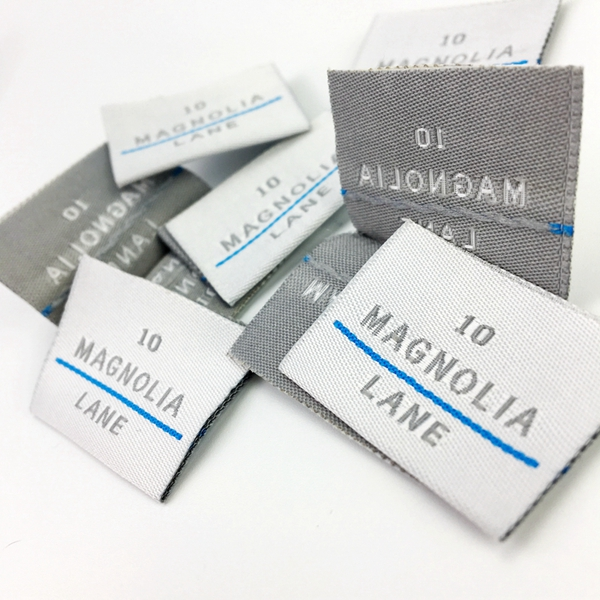 High quality custom woven edge woven labels for clothing
