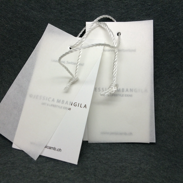 Factory Design Garment Butter Paper Hang Swing Tag