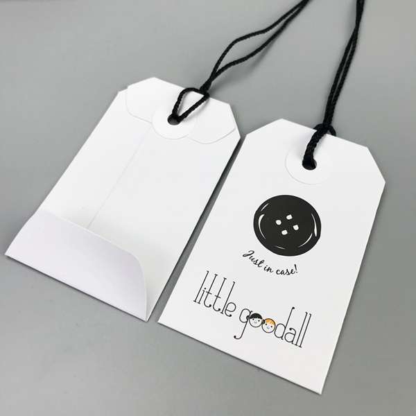 Fashion simple button badge hangtags cute small useful hangtags