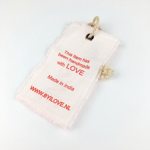 Custom Hand made canvas hang tag for clothing