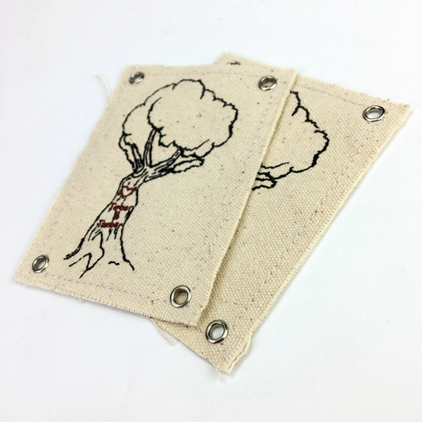Hot sale Unique design Christmas gift canvas hang tags for garment