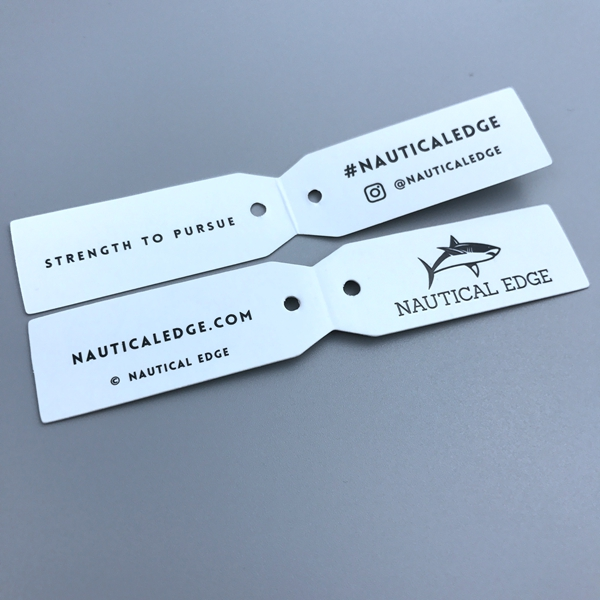 OEM custom logo design folding mini paper jewelry hang tags
