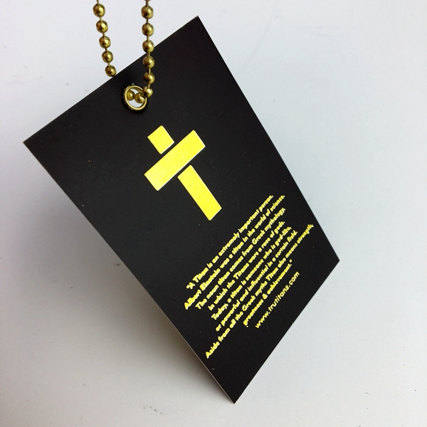 Custom gold foil hang tag