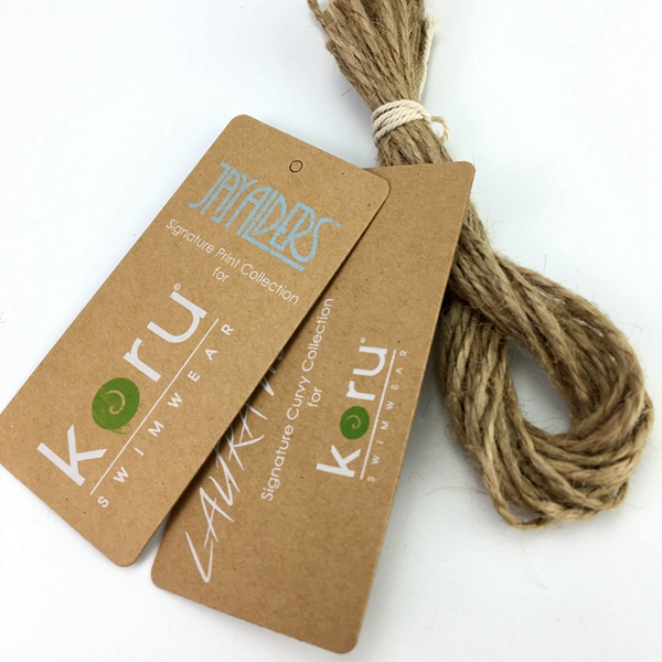 Custom original recycled kraft paper hang tag swing tag with company logo printing