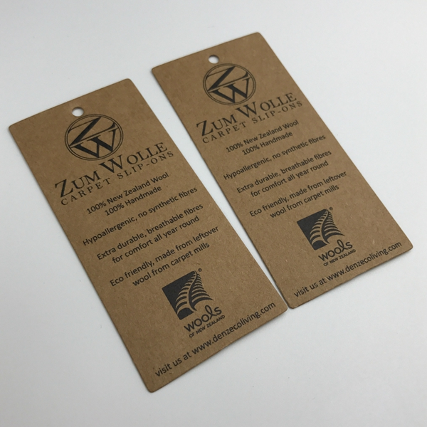 Profession Custom Paper Swing Tag  Kraft Paper Hang Tag For Jeans